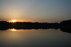 ... und ein super Sonnenuntergang